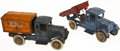 Antiques:Toys, Two Kilgore Cast Iron Trucks, including an Arctic Ice CreamTruck and a Dump Truck.... (Total: 2 Items)