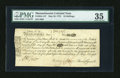 Colonial Notes:Massachusetts, Massachusetts May 25, 1775 18s PMG Choice Very Fine 35....