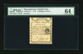 Colonial Notes:Massachusetts, Massachusetts 1779 3s/6d PMG Choice Uncirculated 64....