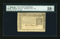 Colonial Notes:New York, New York September 2, 1775 $10 PMG Choice About Unc 58 EPQ....