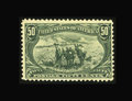 Stamps, #291, 1898, 50c Sage Green, F 70 PSE. (Original Gum - Previously Hinged)....