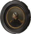 Political:3D & Other Display (pre-1896), Zachary Taylor: A Superb Reverse on Glass Portrait....