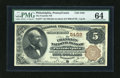 National Bank Notes:Pennsylvania, Philadelphia, PA - $5 1882 Brown Back Fr. 477 The Franklin NB Ch. #5459. ...