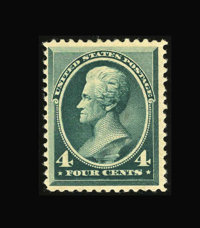 #211, 1883, 4c Blue Green, VG 50 PSE. (Original Gum - Never Hinged)