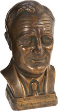 Political:Advertising, Franklin D. Roosevelt: Portrait Bust, Schott Brewery. ...