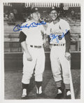 Autographs:Photos, Mickey Mantle And Stan Musial Multi Signed Photograph. ...