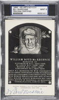 Autographs:Post Cards, 1956-63 Bill McKechnie Artvue Hall of Fame Plaque Postcard PSA/DNACertified Mint 9. . ...