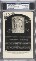 Autographs:Post Cards, 1956-63 Bob Feller Artvue Hall of Fame Plaque Postcard PSA/DNACertified Authentic.. ...