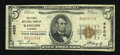 National Bank Notes:Wyoming, Rawlins, WY - $5 1929 Ty. 1 The First NB Ch. # 4320. ...