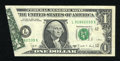 Error Notes:Foldovers, Fr. 1916-L $1 1988A Federal Reserve Note. Very Fine-ExtremelyFine.. ...