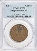 Colonials: , 1787 COPPER Connecticut Copper, Draped Bust Left VF30 PCGS. PCGSPopulation (48/153). NGC Census: (0/0). (#370)...