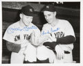 Autographs:Photos, Mickey Mantle And Frank Crosetti Signed Photograph. ...