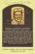 Autographs:Post Cards, Mickey Mantle Signed Hall Of Fame Postcard....