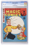 Golden Age (1938-1955):Miscellaneous, Magic Comics #52 Mile High pedigree (David McKay Publications, 1943) CGC NM- 9.2 White pages. ...