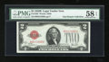 Small Size:Legal Tender Notes, Fr. 1503 $2 1928B Legal Tender Note. PMG Choice About Unc 58 EPQ.. ...
