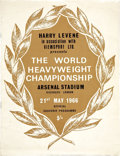 Boxing Collectibles:Memorabilia, 1966 Muhammad Ali vs. Henry Cooper Fight Program. ...