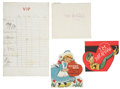 Autographs:U.S. Presidents, Caroline Kennedy: Childhood Valentines. ... (Total: 4 Items)