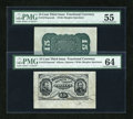 Fractional Currency:Third Issue, Fr. 1275SP/1272SP 15c Third Issue Wide Margin Pair PMG Choice Uncirculated 64 and About Uncirculated 55.... (Total: 2 notes)
