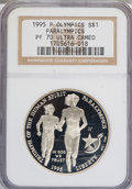 Modern Issues: , 1995-P $1 Olympic/Paralympics Silver Dollar PR70 Ultra Cameo NGC.NGC Census: (0/0). PCGS Population (20/0). Numismedia Ws...