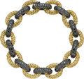 Estate Jewelry:Bracelets, Black Diamond, Yellow Sapphire, Gold Bracelet. ...