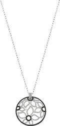 Estate Jewelry:Necklaces, Diamond, Black Diamond, White Gold Pendant-Necklace. ...