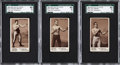 Boxing Cards:General, 1890 N310 Mayo Boxers SGC 60 EX 5 Graded Trio (3)....