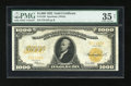 Large Size:Gold Certificates, Fr. 1220 $1000 1922 Gold Certificate PMG Choice Very Fine 35 Net....