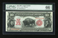 Large Size:Legal Tender Notes, Fr. 114 $10 1901 Legal Tender PMG Gem Uncirculated 66 EPQ....