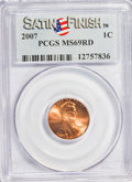Lincoln Cents, 2007 1C Satin Finish MS69 Red PCGS. PCGS Population (205/0).(#149539)...