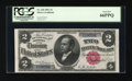 Large Size:Silver Certificates, Fr. 245 $2 1891 Silver Certificate PCGS Gem New 66PPQ....