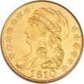 Early Half Eagles, 1810 $5 Large Date, Large 5 AU53 PCGS....