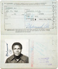 Boxing Collectibles:Memorabilia, 1970's Muhammad Ali Passport with Philippines, Zaire Stamping....