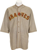 Baseball Collectibles:Uniforms, 1929 Boston Braves Game Worn Jersey, One of Two Known!...