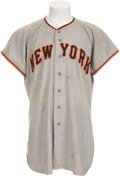 Baseball Collectibles:Uniforms, 1951 New York Giants Number 24 Jersey Attributed to Willie Mays....