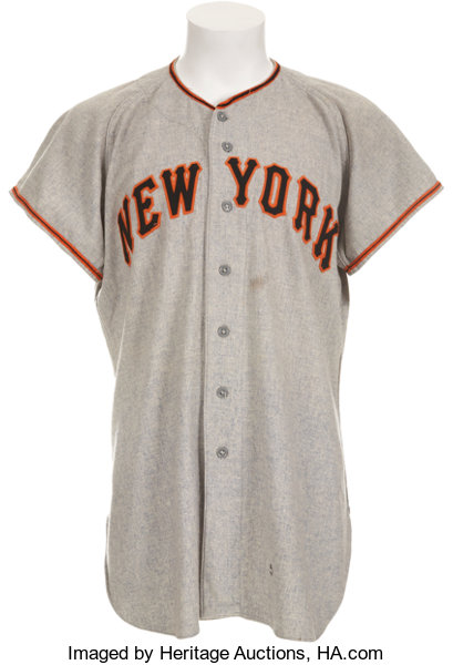 5e408a3cb ... Baseball Collectibles:Uniforms, 1951 New York Giants Number 24 Jersey  Attributed to Willie Mays ...