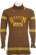 Hockey Collectibles:Uniforms, 1924-25 Boston Bruins Game Worn Sweater from First NHL Season....