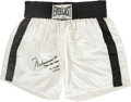 Boxing Collectibles:Memorabilia, 1973 Muhammad Ali Fight Worn Trunks from Norton II Bout....