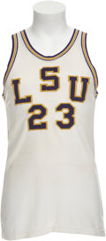 Basketball Collectibles:Uniforms, 1967-68 Pete Maravich Game Worn Jersey....