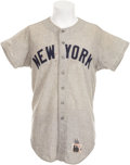 Baseball Collectibles:Uniforms, 1966 Mickey Mantle Game Worn Jersey....
