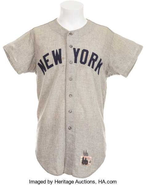 4b7e71284 1966 Mickey Mantle Game Worn Jersey.... Baseball Collectibles