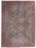 Rugs & Textiles:Carpets, A PERSIAN TABRIZ CARPET. Late 19th Century. 140 x 104 inches (355.6x 264.2 cm). ...