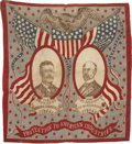 Political:Textile Display (1896-present), Roosevelt & Fairbanks: Classic 1904 Jugate Bandana....