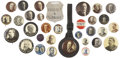 Political:Pinback Buttons (1896-present), William Howard Taft, Woodrow Wilson et al: Large Lot of Thirty Buttons and Two Watch Fobs.... (Total: 30 Items)
