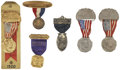 Political:Ribbons & Badges, Political Conventions: Five Badges and Ribbons, Republican, 1920.... (Total: 6 Items)