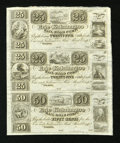 Obsoletes By State:Ohio, Toledo, OH- Erie and Kalamazoo Rail-Road Compy. 25¢-25¢-50¢ Wolka2558-06-07-08 Uncut Sheet . ...