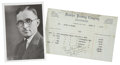 Autographs:U.S. Presidents, Harry S Truman: Election Document Signed, 1926.. ... (Total: 2Items)