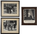 Autographs:U.S. Presidents, Dwight D. Eisenhower: Two Photos Signed.... (Total: 4 Items)