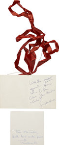 Autographs:U.S. Presidents, Jacqueline Kennedy and Lee Radziwill: Autograph Gift Tags Signed. ... (Total: 2 Items)