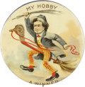 "Political:Pinback Buttons (1896-present), William Jennings Bryan: The Legendary ""Hobby Horse"" CampaignPinback. ..."