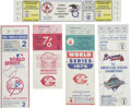 Baseball Collectibles:Tickets, World Series And Championship Series Tickets Lot Of 5....